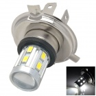 H4 White Light Car Headamp w/ 12-SMD 5630 LED + 5W CREE XP-E R3 (10~30V)