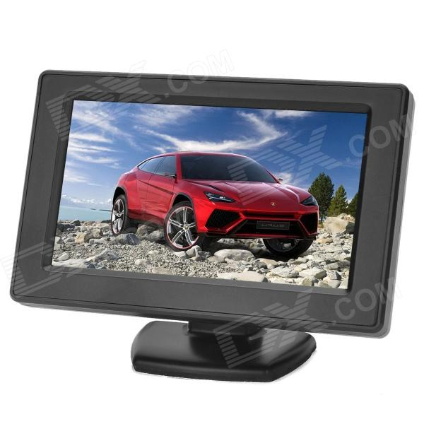 T04358 4.3 Car Rearview LCD Monitor w/ Dual AV Input / Sun Shade (PAL / NTSC) 7 lcd rearview monitor w remote controller black pal ntsc