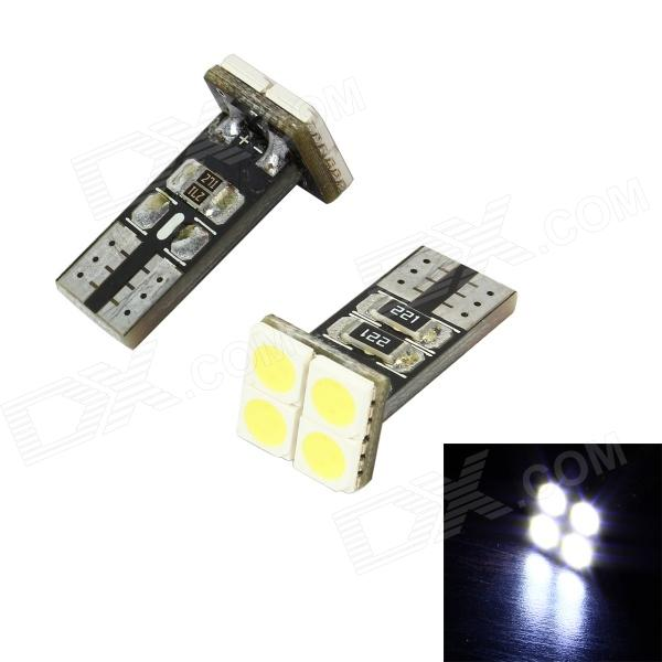 Merdia LEDD004T10A4S1 T10 0.6W 48lm 4-SMD 5050 LED White Light Car Lamps - (12V / 2 PCS)