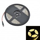 Waterproof 12.5W 1200lm 3500K 300-SMD 3528 LED Warm White Light Flexible Strip + Controller - (5M)