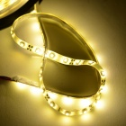Impermeable 12.5W 1200lm 3500K 300-SMD 3528 LED de luz blanca cálida Flexible Strip + Controller - (5 M)