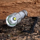 J28-5 Cree XM-L T6 5-Mode 700lm Cool White Taschenlampe - Silber (1 x 18650)