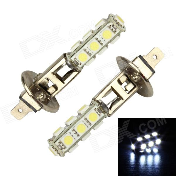 Merdia H1 3.9W 156lm 13-SMD 5050 LED White Light Car Foglight / Headlamp - (12V / 2 PCS) h1 4w 220lm 68 smd 1210 led warm white light car foglight headlamp tail light 12v