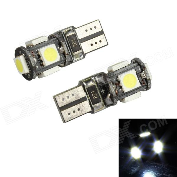 Merdia T10 3.5W 60lm 5-SMD 5050 LED White Light Decoding Car Reading lamp - (12V / 2 PCS) lx 3w 250lm 6500k white light 5050 smd led car reading lamp w lens electrodeless input 12 13 6v
