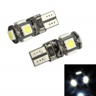 Merdia T10 3.5W 60lm 5-SMD 5050 LED White Light Decoding Car Reading lamp - (12V / 2 PCS)