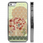 ENKAY Flower Pattern Protective Plastic Back Case for Iphone 4 / 4S - Multicolored