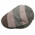Kenmont KM-0539-56 Fashionable Strip Flat Cap - Pink + Grey + Brown