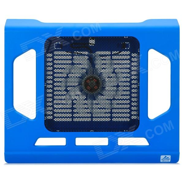iDock NC2 ABS + ijzer Mesh USB Powered 1-Fan Cooling Pad voor Laptops - Blue