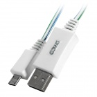 PZCD PZ-33 USB to Micro USB Data/Charging Cable w/ LED Light for Samsung / HTC / Xiaomi