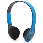 Bluetooth V2.1 + EDR Stereo Headset w/ TF Slot / FM Radio - Blue + Black
