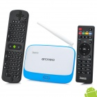 Jesurun DX05 Quad-Core Android 4.2.2 Mini PC Google TV Player + RC11 - Blue + White (EU Plug)