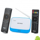 Jesurun DX05 Quad-Core Android 4.2.2 Mini PC Google TV Player + Mele F10 - Blue + White (EU Plug)
