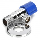 PHASAT 7826 Chromed Copper Triangle Valve - Silver + Blue