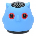 A-100 Owl Style Wireless Bluetooth Speaker - Blue + Black + Red
