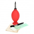 Emol 6-in-1 Blower + Brush + Cloth + CCD Swabs Cleaning Kit for Digital Cameras Filter + More - Red