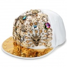 XP12 Stylish Cotton Hip-hop Baseball Cap - White + Golden