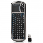 iPazzPort KP-810-18R Mini 2.4G Wireless 84-Keys Keyboard w/ IR Remote Controller - Black