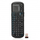 iPazzPort KP-810-19BTT Mini 2.4G Wireless Bluetooth v2.0 84-Keys Keyboard - Black (2 x AAA)