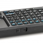 iPazzPort KP-810-19BTT Mini 2.4G Wireless Bluetooth v2.0 84-Keys teclado - negro (2 x AAA)