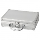 Classic Suitcase Style Multifunctional Aluminum Alloy Storage Case - Silver + Argent