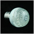 Multicolored LED Bulb 18-LED with Light Diffusing Dome 110V E27