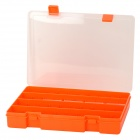 EKB-214 Multifunctional Removable 36 Cubicles PP Storage Organizer Case - Orange + Transparent
