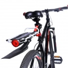 Mountainpea Bike Parrilla de equipaje Carrier w / Fendar - Negro