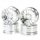 CML 1/10 7 ABS Y Spoke Wheel Hub for Electric / Oil On-Road Flat Run Car - Silver (4 PCS)