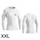 VEOBIKE Men's Quick-Dry Nylon Long-Sleeve Fitness T-Shirt - White (XXL)