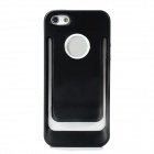 Unique Protective TPU + PC Back Case for iPhone 5 - Black