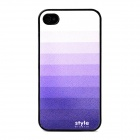 Gradual Change Style Protective Back Case for iPhone 4 - Purple + White