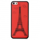 Protective Iron Tower Plastic Back Case for Iphone 5 - Red + Black
