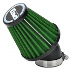 Rad Universal Replacement 42mm Caliber Air Filter for Motorcycle / Scooter - Green + Black