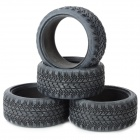 CML RC 1/10 Soft Rubber Racing Grip Tires Model for On-Road Flat Run Car (4 PCS)