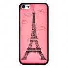 Eiffel Tower Style Ultrathin Protective Plastic Back Case for Iphone 5 - Pink + Black