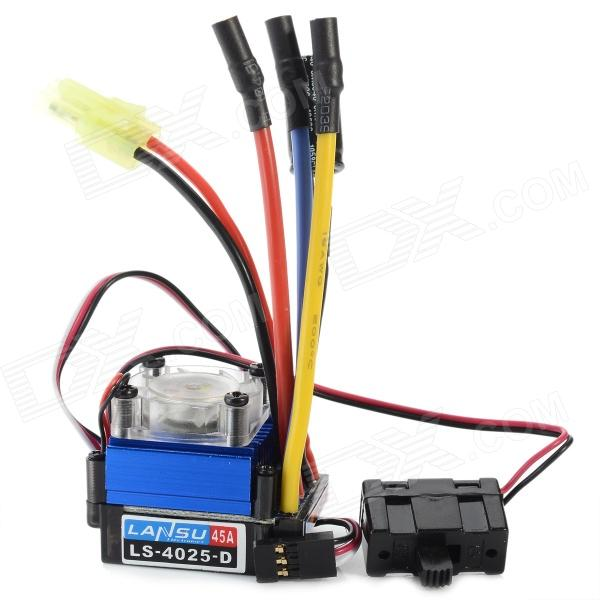 45A Brushless Speed Controller ESC w/ Fan for 1/18 1/12 Cross-country Car интеркулер kang wild 1 6t 1 6t 53039700174