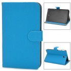 Protective Flip-open Smart PU Leather Case w/ Holder for Samsung Galaxy Tab 3 P3200 - Blue
