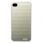 Gradual Change Style Protective Back Case for Iphone 4 - Grey + White