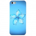 Elegant Flower Style Protective Rhinestone + Plastic Back Case for Iphone 5 - Blue