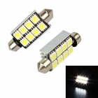 Merdia Festoon 41mm 3W 96lm 8-SMD 5050 LED White Light Decoding Car Reading Lamps - (12V / 2 PCS)