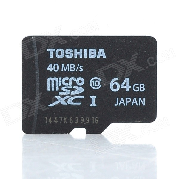 Toshiba SD-C064GR7AR30 Micro SDXC / TF Card - Black (64GB / Class 10) ssk scrm 060 multi in one usb 2 0 card reader for sd ms micro sd tf white