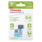 Toshiba SD-C064GR7AR30 Micro SDXC / TF Card - nero (64GB / categoria 10)