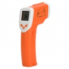 "JX- DT802 1.25"" LCD Display Double Laser Transmitter Infrared Thermometer - Orange + White"