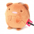 Cute Cartoon Bear Style Decorative Screen Cleaner w/ 3.5mm Anti-Dust Plug - Brown