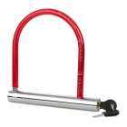OED-516 Anti-Theft Stainless Steel Lock for Bicycle Motorcycle - Red + Silver
