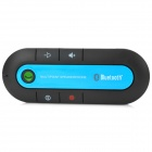Universal Dual-Standby Multi-point Bluetooth V3.0 Handsfree Speakerphone for Car - Black + Blue