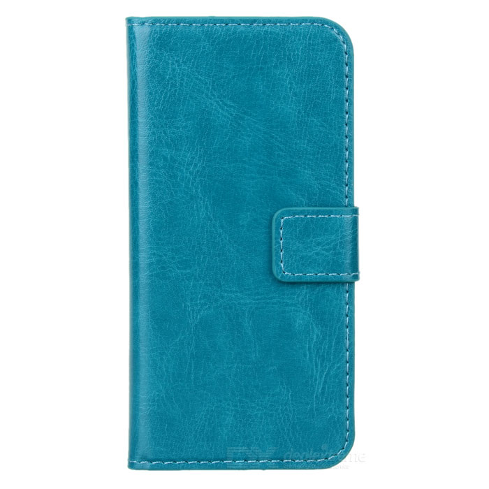 Protective PU Leather Case for Iphone 5 - Blue Green