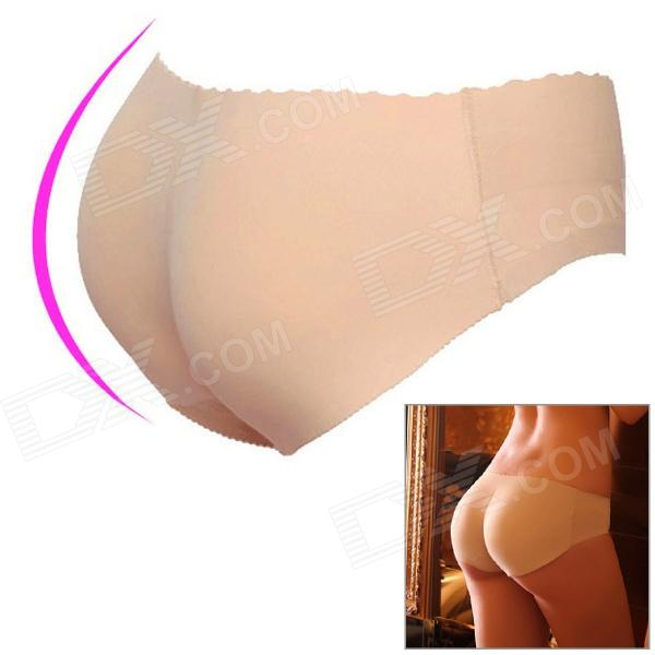 Sponge + Polyamide Seamless Traceless Butt Lifting Women's Underpant - Flesh Color (Size M)