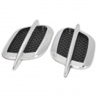 MP-1222 Universal Imitation Shark Gill Engine Hood Side Air Vent Sticker for Car - Black (2 PCS)
