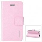 NEWTOP Elegant Protective PU Leather Case for Iphone 4 / 4S - Light Purple